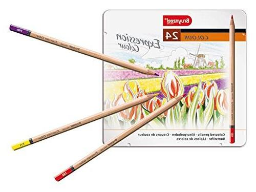 expression 24 pencils tin set
