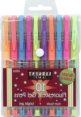 fluorescent gel pens