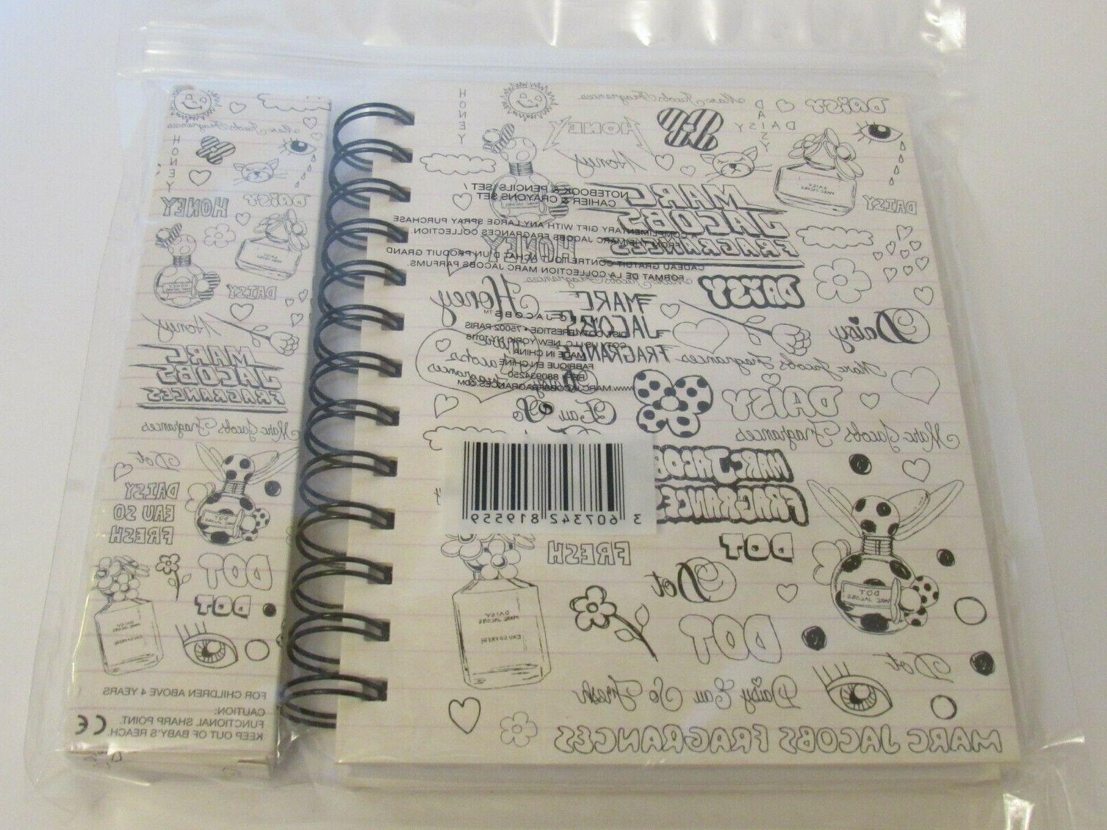 Marc Spiral Notebook Pencils New Package RARE