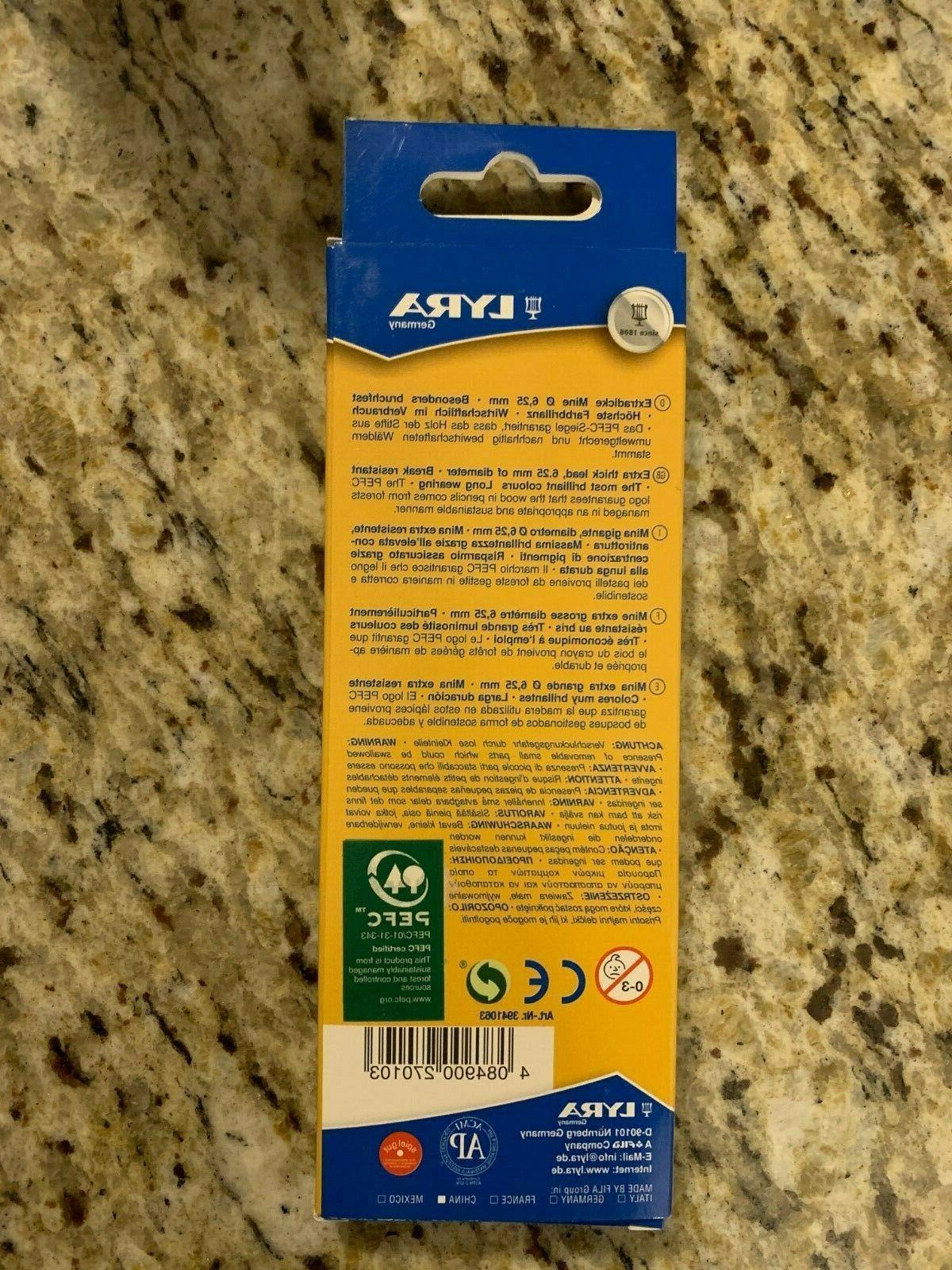 LYRA Giants hi-quality 6 pencils Farb-Riesen