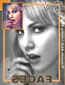 Grayscale Adult Coloring Books Gray Faces : Coloring Book fo