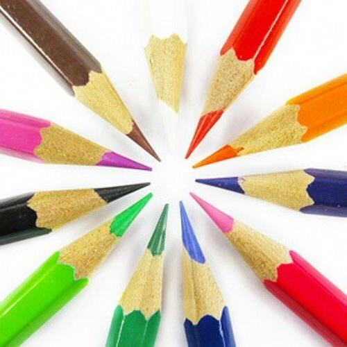 Kids' Children's Crafts Drawing Painting Crayons 12 Colors C