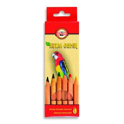 Koh-I-Noor 217 Jumbo Natur Grooved Coloured Pencil Sets Avai