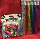 JOT 12 Pack # 2 Lead Pencils w/ Erasers & 40 Neon Colored Er