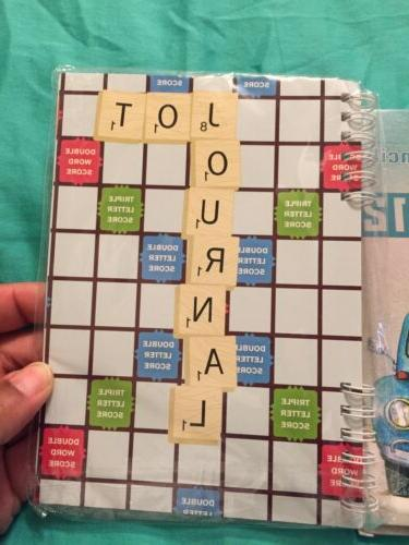 Scrabble Notebook Journal Paper 40 w/Madisi Colored Pencils