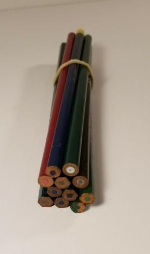 lot of 11 unused colored drawing pencils
