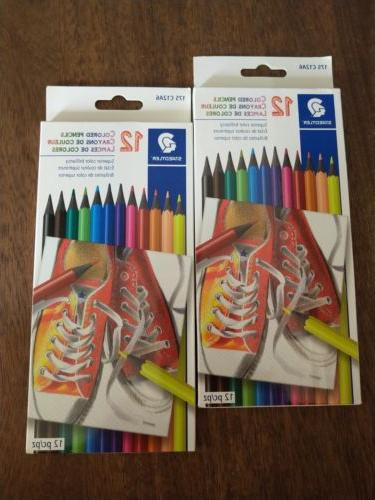 Lot of 2 Staedtler Colored Pencils Superior color brilliancy