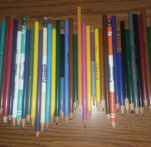 Lot Colored Pencils Mixed Crayola, Art Others