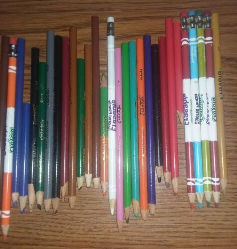 Lot Colored Crayola, Rose and Others