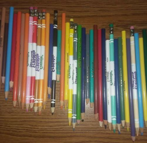 Lot of Used Colored Mixed Crayola, Rose Art Others