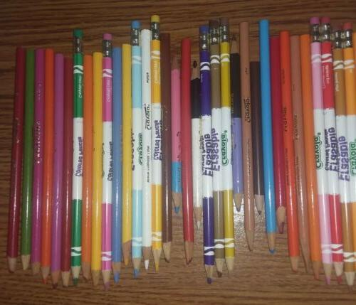 Lot of Used Colored Mixed Brands Crayola, Rose and