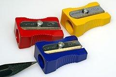 Colored Magnesium Alloy Metal Pencil Sharpener, Wedge Profil