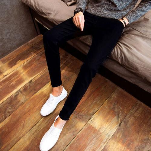 Men's Denim Skinny Slim Trousers Pants 3