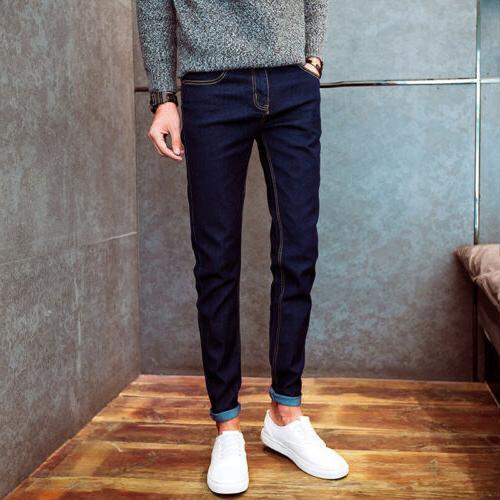 Men's Skinny Pencil Trousers Cacual Pants Colors