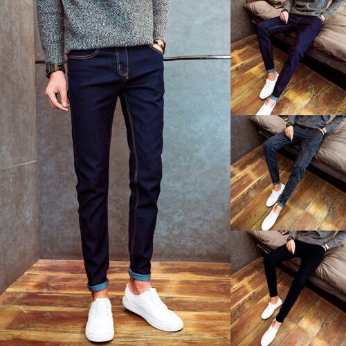 Men's Skinny Pencil Fit Trousers Colors