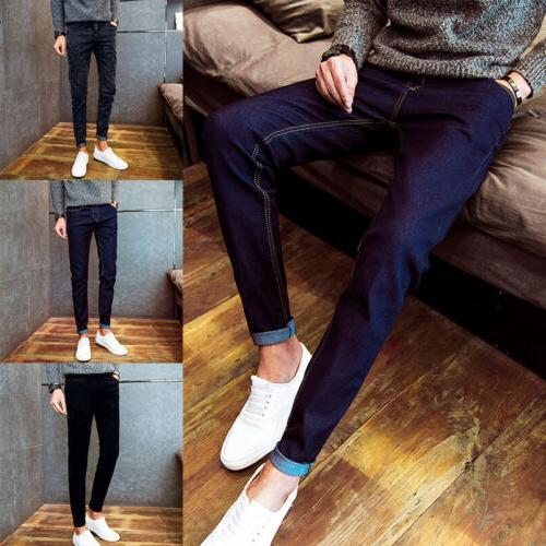 Men's Denim Skinny Pencil Slim Trousers Colors