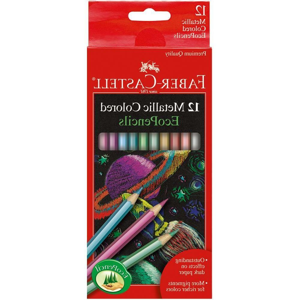 metallic colored ecopencils school supplies faber castell 12