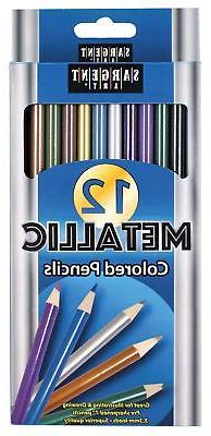 Sargent Art  22-7231 Metallic Colored Pencils, Assorted