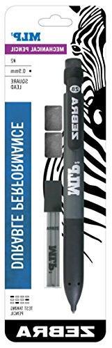 Zebra Pen MLP2 Mechanical Pencil, Bold 0.9mm Lead, Bonus Lea