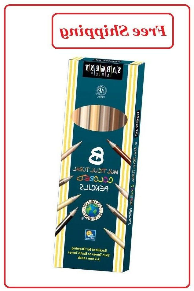 multi ethnic colored pencils assorted skin tone