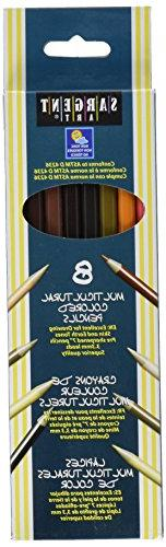 Sargent Art Multi-Ethnic Colored Pencils, 7 Inches, Assorted