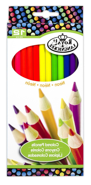 neon pencils drawing set sketching