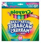 NEW CRAYOLA 10 CT Ultra-Clean Washable Markers Tropical Colo