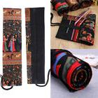 New Canvas Roll Wrap Pencil Bag Drawing Brush Holder Colored