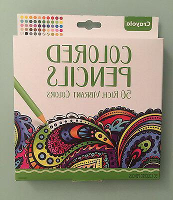 New Crayola Colored Pencils 50 Rich, Vibrant Colors