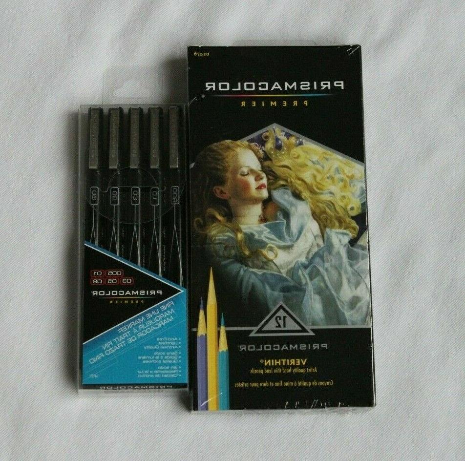 NEW Lot 108 Pencils 5 Fine Line permanent MARKERS