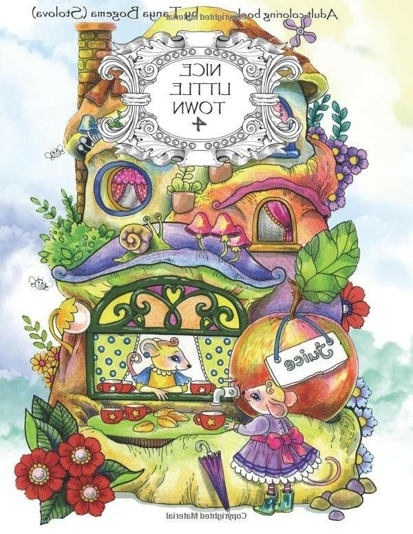 Nice Little Town: Adult Coloring Book