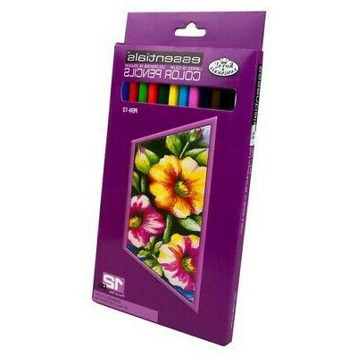 pen12 essentials 12 assorted color pencil set