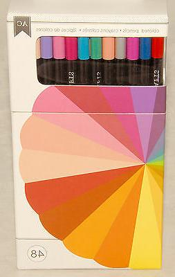 AMERICAN CRAFTS - 48 piece COLORED Pencil SET - Acid Free -