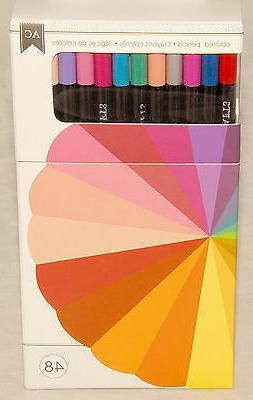 AMERICAN CRAFTS - 48 piece COLORED Pencil SET - Acid Free -