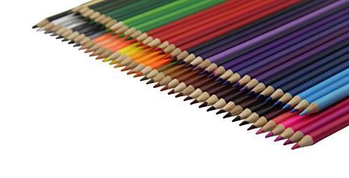 Everyday Premium Colored Pencils Set 72 Roll up Pouch Canvas Pen Bag