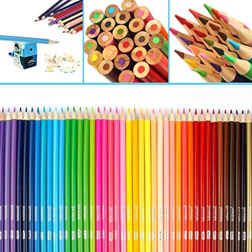 Soucolor Set Drawing Coloring Pencils for Adult Books Projects