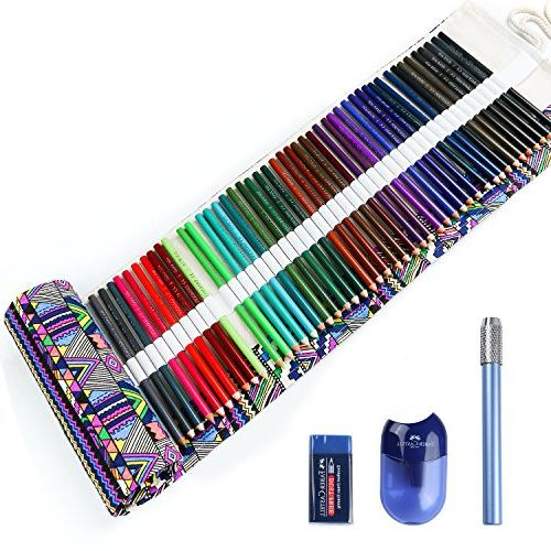 Colored Pencils for Adult Books Artist Handmade Pencil Wrap, Extra Holiday