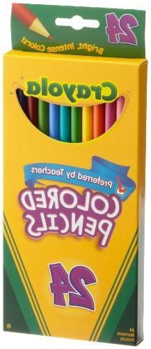 Crayola Colored Pencils, Assorted Colors, 24 Count