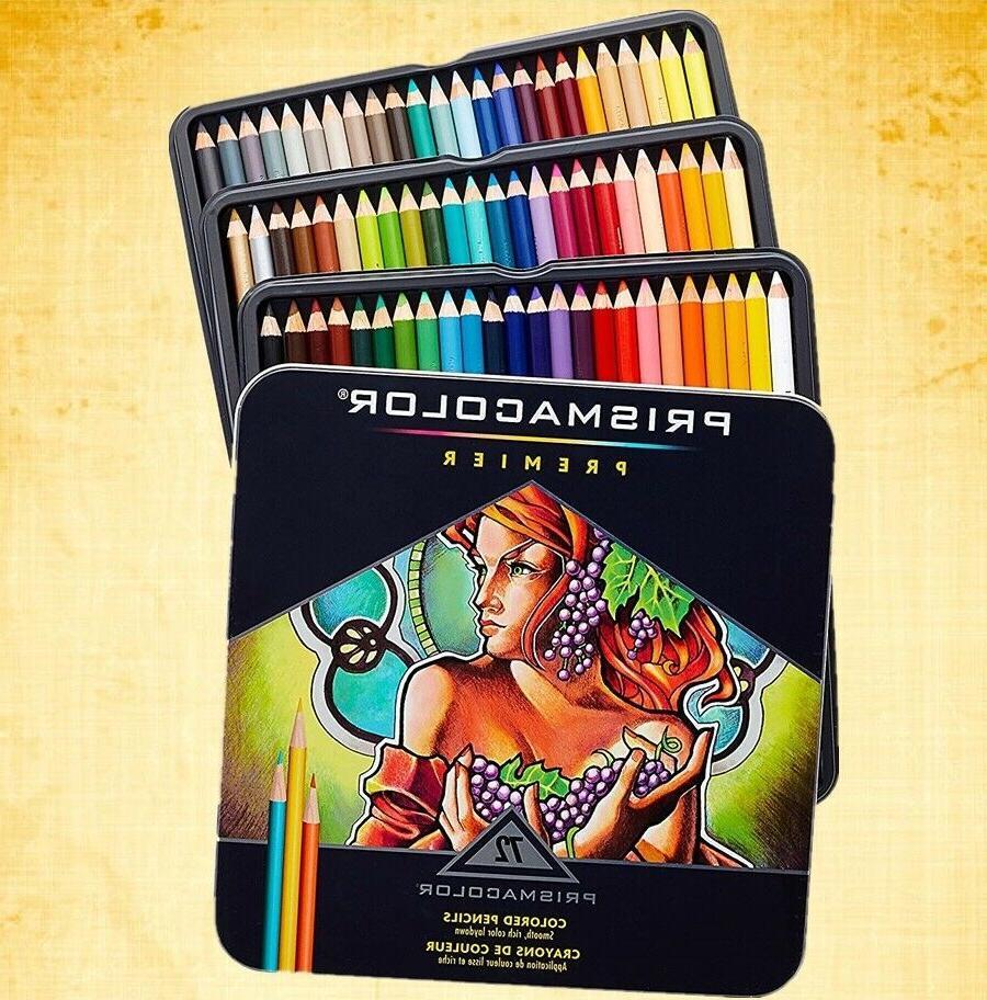premier 72 colored pencils soft core artist