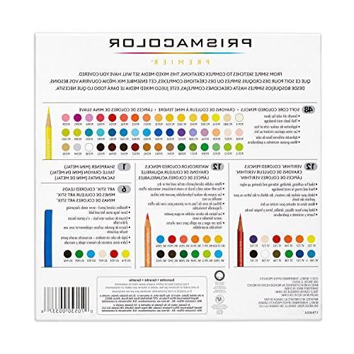 Prismacolor 1794654 Mixed Media Pencils-Art Stix-Pencil Sharpener, 79-Count