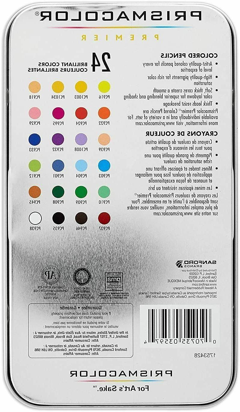Prismacolor Colored Pencils Soft Core Count