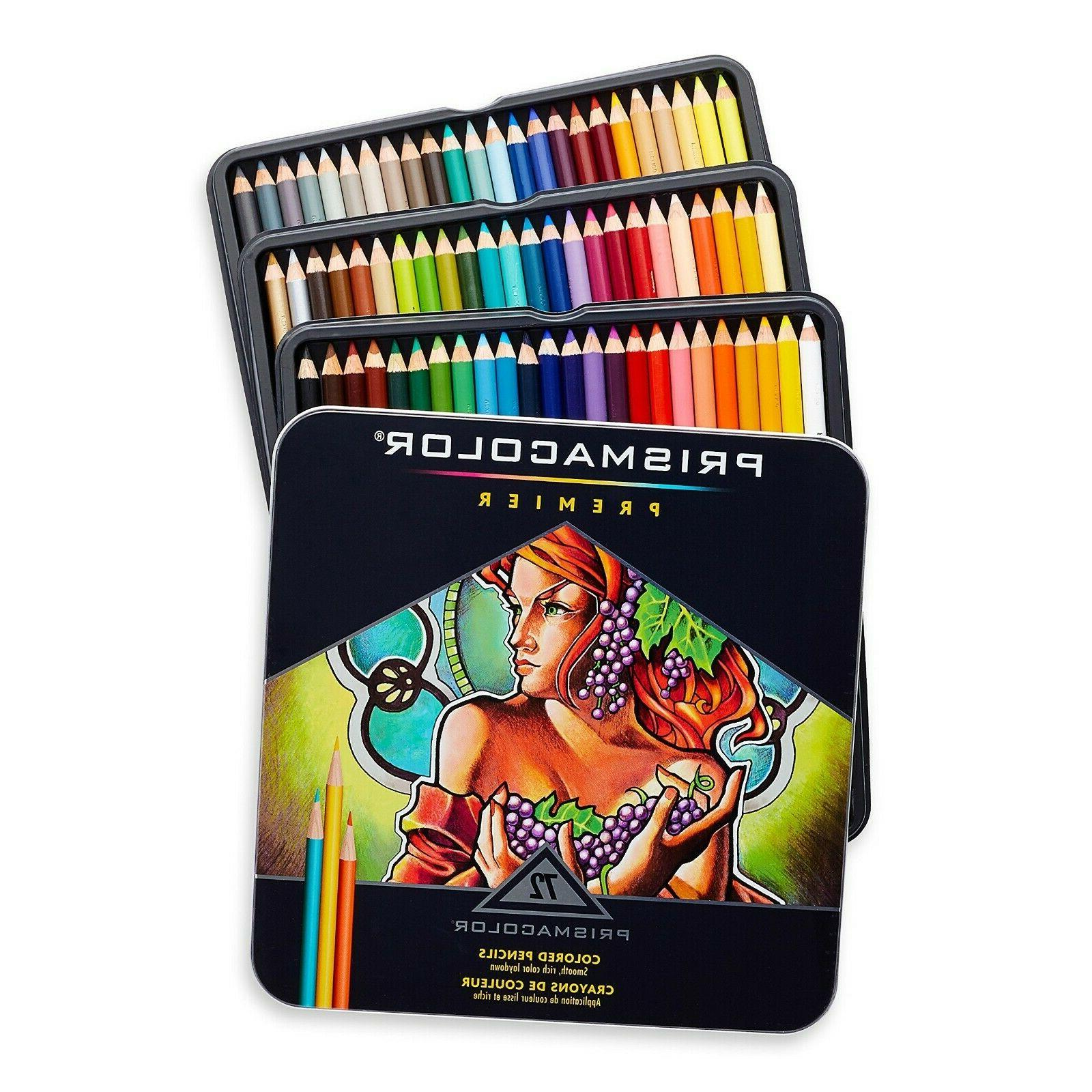 Prismacolor Pencils, Soft Core, 72