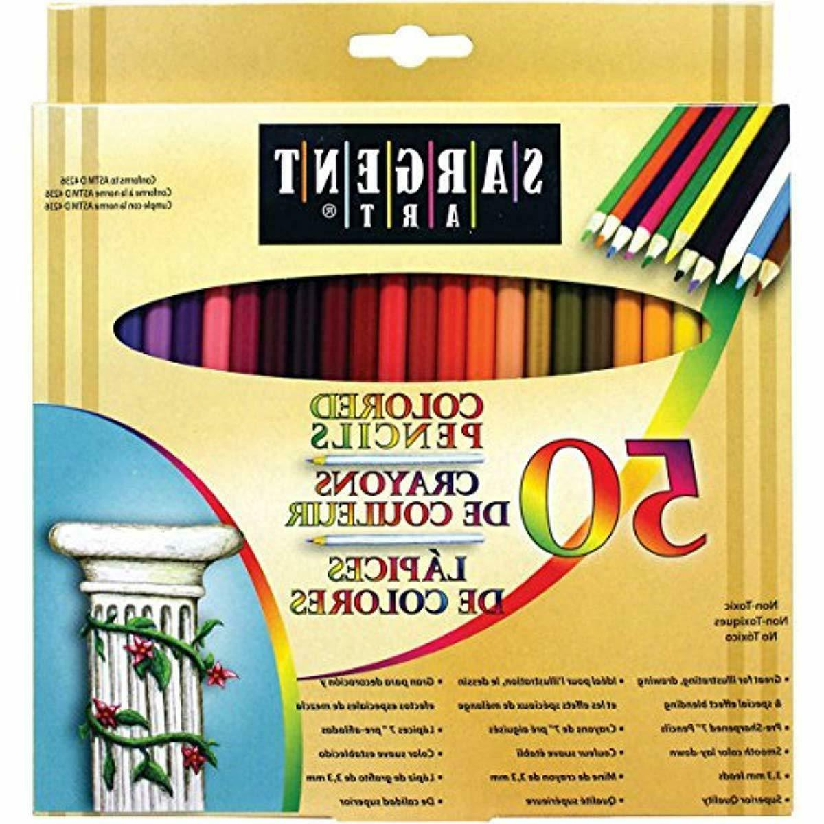 premium coloring pencils pack of 50 assorted