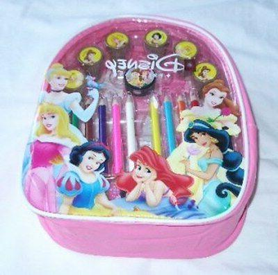 princesses licensed backpack w color pencil self