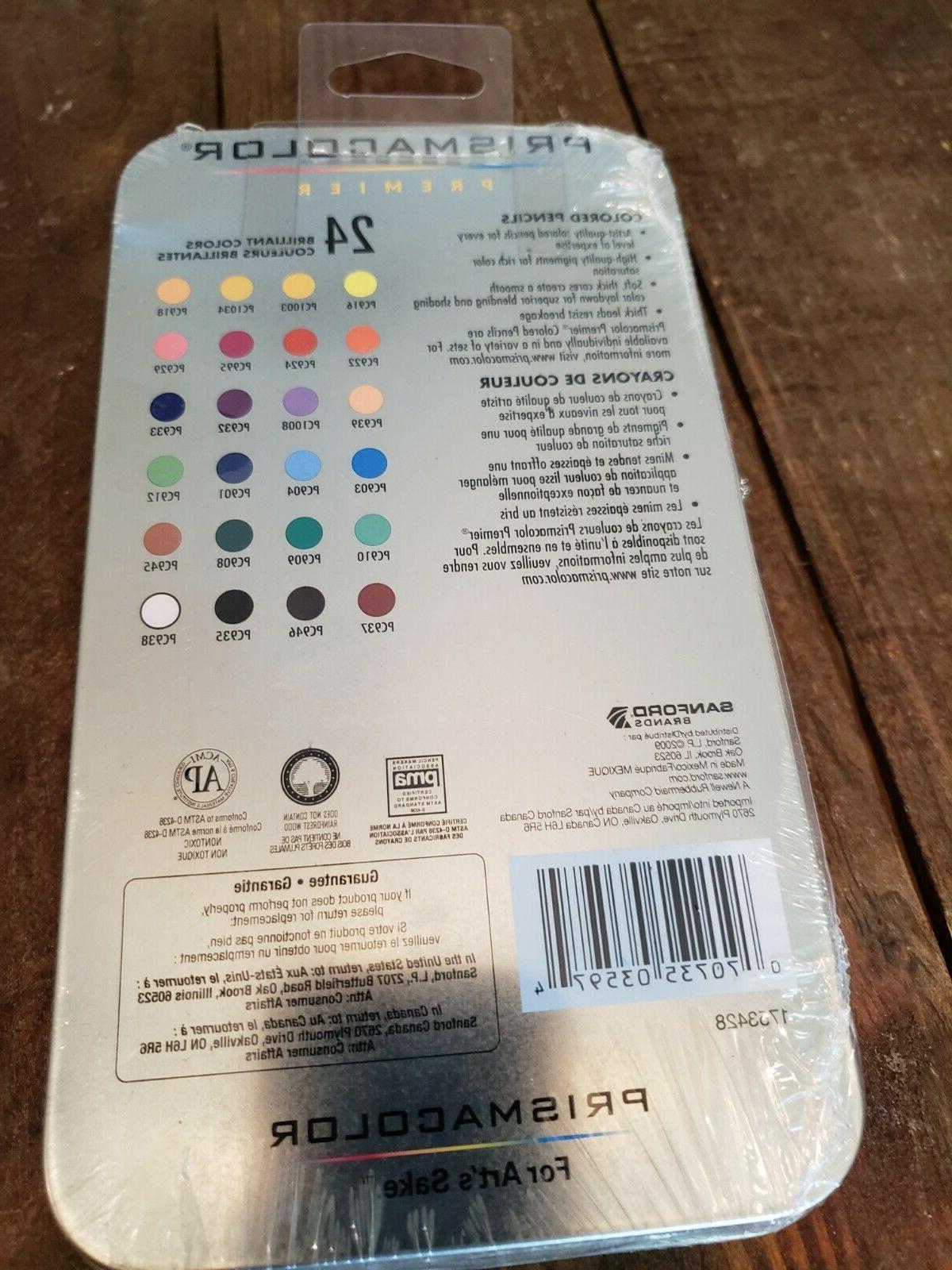 Prismacolor 24 Pencils NEW! Smooth Color