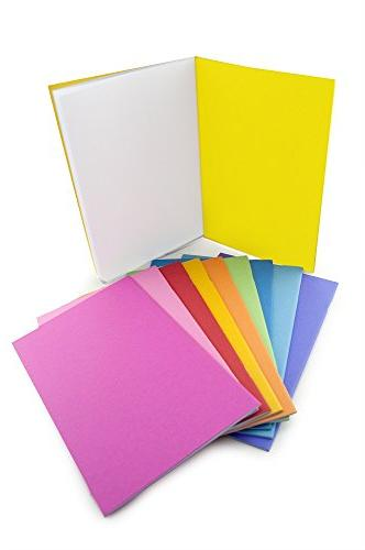 Hygloss Blank Sketch, Writing, Journaling, for Pack Colors