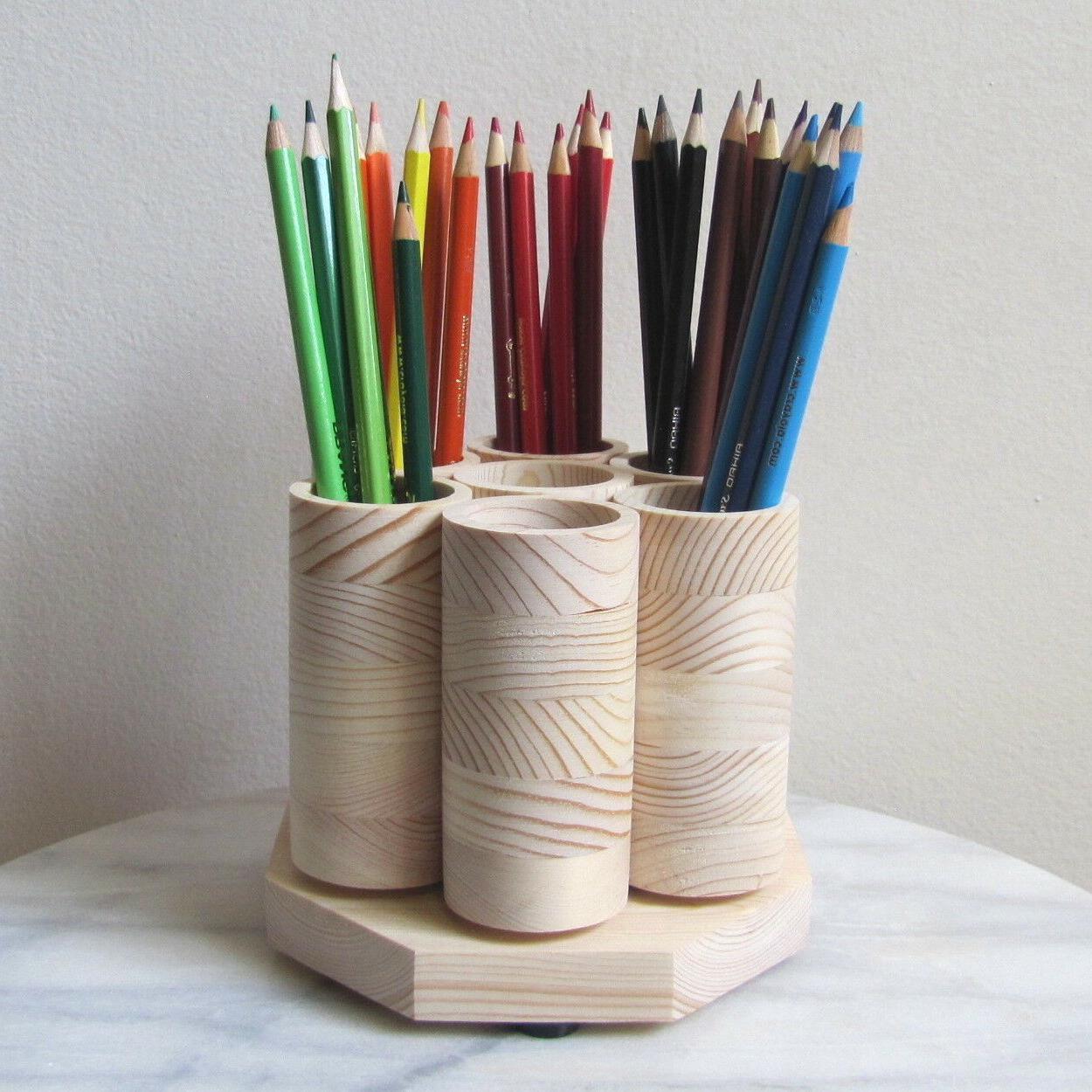 Rotating Desk Pencils, Handmade