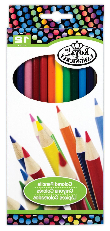 Royal Langnickel 12 pc COLOR Colored Pencils Drawing Set Ske