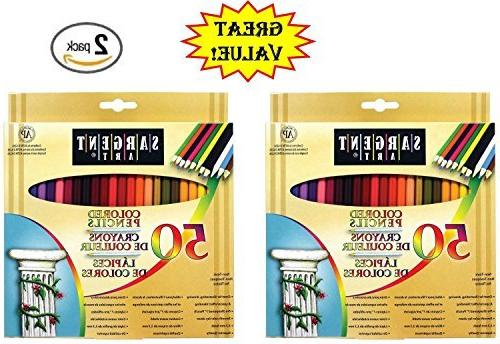 sargent art 22 7251 50 count assorted colored pencils
