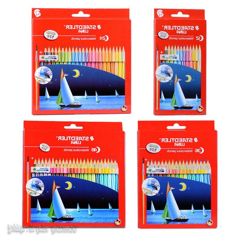 Staedtler Set of 12/24/36/48 Water Color Pencils Art Drawing